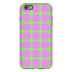Mod pink green circle pat iPhone Plus 6 Tough Case on CafePress.com