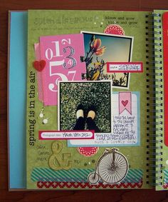 Spring Smash Book Page by Tessa Buys, via Flickr