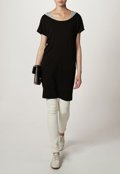 TWINTIP - T-Shirt basic - black/grey melange