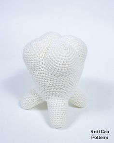 Crochet Minimalistic Tooth Toy Pattern PDF Crochet Interior | Etsy Photo Pattern, Stuffed Toys Patterns, Etsy App, Handmade Decorations, Sell On Etsy, Creative Ideas, Baby Shower Gifts, Tooth, Dinosaur Stuffed Animal