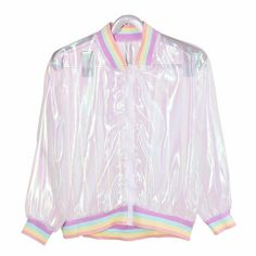 Harajuku Summer Women Jacket Laser Rainbow Symphony