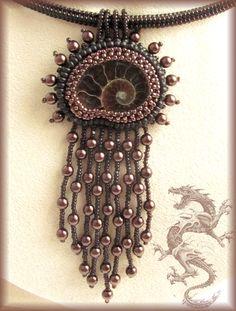 "Handmade: ""pink landscape"" pendant"