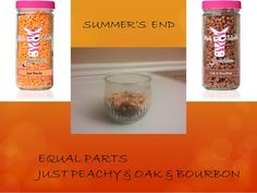 Summer's End is equal parts of Pink Zebra Just Peach and Oak & Bourbon sprinkles
