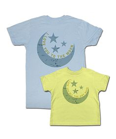 Look what I found on #zulily! Yellow & Blue 'Love You to the Moon' Tee Set - Toddler & Adult by Happy Soul #zulilyfinds