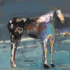 """Star by Dominique Samyn Print on wood (Giclee) with layer of resin ~ 12"""" x 12"""""""