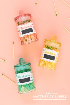 Keep matches in a jar with a cute strikeable label made with @avery labels