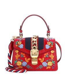 Sylvie Mini Leather Shoulder Bag - Gucci  93736fdcf91c4