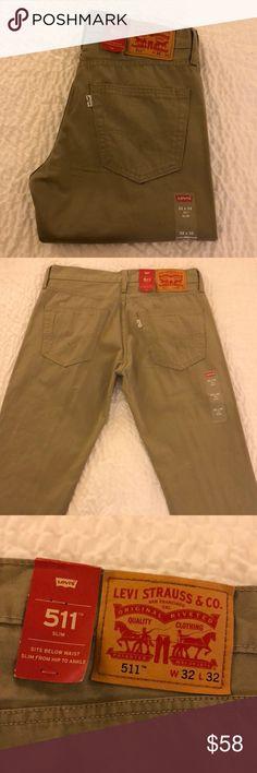 NWT // Levi's 511 Slim Khaki Jeans // 32x32 NWT // Levi's 511 Slim Khaki Jeans // 32x32 Levi's Jeans Slim