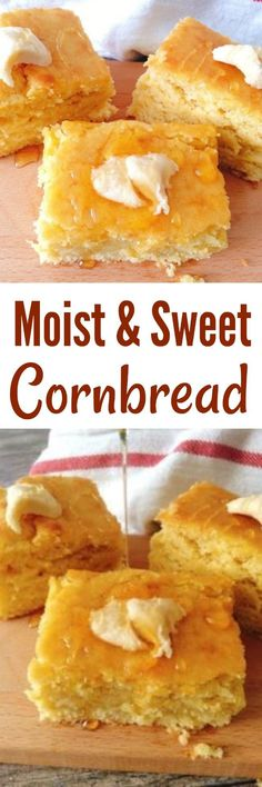 Better Pictures - An Easy, moist, sweet cornbread recipe that is made from scratch! The best corn bread you'll ever bake! To anybody wanting to take better photographs today Moist Cornbread, Sweet Cornbread, Cornbread Cake, Cornbread Recipes, Buttermilk Cornbread, Wie Macht Man, Comfort Food, Muffin Recipes, Cake Recipes