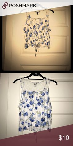 New with tags, Daisy Duke crop top! Flower print, soft fabric, lace in the back, romantic crop top for every season with the right accessories! Forever 21 Tops Crop Tops