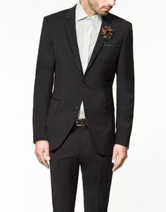 ZARA Man. Blazer with edging on front. I like this one! $189