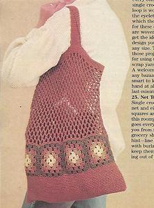 crochet+tote+bag+patterns   22M CROCHET PATTERNS FOR: Pretty Net Tote Bag Trim + Striped Pouch L ...
