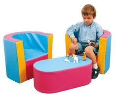 """Kindersessel """"Happy & Soft"""" (Set aus 2 Sesseln und Tisch). Mehr Kindergartenausstattung gibt's bei Happy Kidz!"""