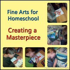 Creating a Masterpiece Art for Homeschool  This art program will help your child gain the fundamental skills needed to create beautiful drawings, painting and sculptures using various mediums.