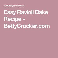 Easy Ravioli Bake Recipe - BettyCrocker.com