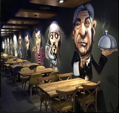 pognote 10 Cool Cafe Cafe Order Ideas WA: 081977713154 If you want to get c Cafe Shop Design, Coffee Shop Interior Design, Restaurant Interior Design, Store Design, Mural Cafe, Deco Restaurant, Graffiti Restaurant, Cool Cafe, Shop Interiors