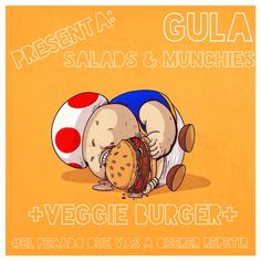 #GULA Salads & Munchies  Burger de portobello a la plancha, acompañado de aros de cebolla, vegetales y aderezos de la casa. #Celular 2721440346 #ElPecadoQueVasAQuererRepetir