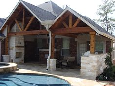why using gambrel roof on your traditional house or barn? here's why, full gable patio covers gallery highest quality waterproof patio, great open gable patio cover plans : grande room tips for build, popiak cedar gable patio cover project houston tx, Diy Pergola Kits, Cheap Pergola, Pergola Plans, Outdoor Shade, Patio Shade, Back Porch Designs, Franklin Homes, Porch Addition, Gambrel Roof