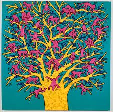 """expositions Keith Haring à Paris : toutes nos infos Painting by Keith """"The Tree of Monkeys"""", acrylic on canvas.Painting by Keith """"The Tree of Monkeys"""", acrylic on canvas. Jean Michel Basquiat, Arte Pop, Andy Warhol, Escher Kunst, James Rizzi, Modern Art, Contemporary Art, Keith Haring Art, Keith Haring Prints"""