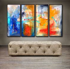 """$159.99. 'Being Me' - 48"""" X 30"""" Original Abstract Art Painting. Everyone knows that accessories complete the home. With several pieces of paintings to choose from, your search for a perfect, one of a kind original artwork for your walls ends here.You don't need to settle for anything less than a perfect look. Enjoy free-shipping throughout USA, Free hanging hardware and 30-day return."""