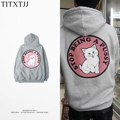 Womens Cute Cat Ear Hoodie Sweatshirts Dog Alphabet Setu Asana Pullover Tops Blouse