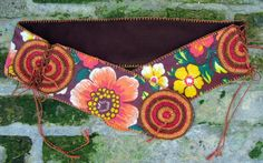 Stoffgürtel - Hippiegürtel Nr.28, braun-rot-orange-gelb - ein Designerstück von Majoni bei DaWanda