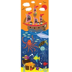This Pirate LED Canvas is an excellent accessory for kids who have a pirate themed bedroom!