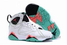 8c09bac9511 2016 Newest Releases Air Jordan 7 Retro GG Verde White Black Verde Infrared  23 Kids Shoes
