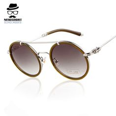 Alloy Round Sunglasses 2016 Brand Design Women Crazy Party Glasses Acetate Men Outdoor Gafas Steampunk Lentes De Mujer De Marca