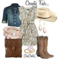 County Fair, Country Girl Outfit. ill be wearing something  similar to this tomorrow!