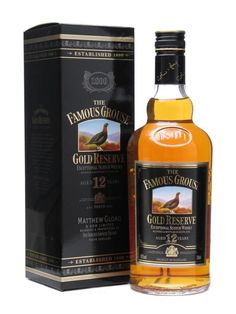 Famous Grouse 12 year old Gold Reserve, old label