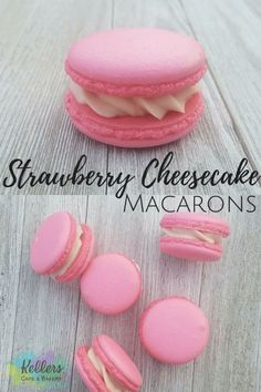 Strawberry Cheesecake Macarons is part of Macaroons flavors These strawberry cheesecake macarons are so tasty and delicate They are possibly one of my favorite desserts ever! The cookies are nice a - French Macaroon Recipes, French Macaroons, Pink Macaroons, Coconut Macaroons, Macaroons Wedding, French Macaron Flavors, Best Macaroon Recipe, Gluten Free Macaroons, Chocolate Macaroons
