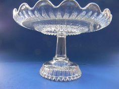 "EAPG ""Martha's Tears"" pattern cake stand made in Greensburg,  PA circa 1890, the smaller of two sizes, 8.5""D x 5.25""H."