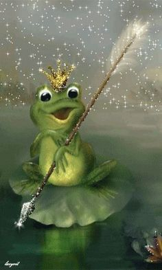 The frog prince Frog Pictures, Gif Pictures, Cute Pictures, Funny Frogs, Cute Frogs, Animated Gif, Gifs, Photo Zen, Bears