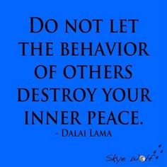 Inner Peace by Dalai Lama much easier said than done if you ask me.