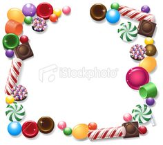 Candy Frame Royalty Free Stock Vector Art Illustration