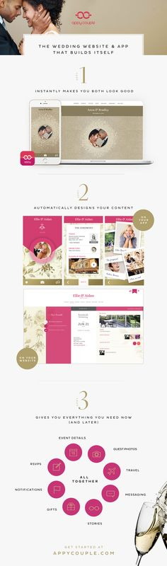 Need help building a wedding website for your guests to get more information? Try appy couple, the wedding website app