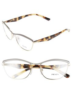 b8550785dfb4 Free shipping and returns on Prada 56mm Optical Glasses at Nordstrom.com. A  browline