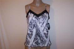WILDERNESS DREAM Camouflage Cami Top XXL Naked North Snow Camisole Lingerie NWT #WildernessDreams