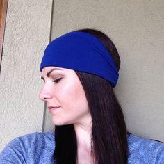 Royal Blue Fabric Head Wrap Headband OR Turban on Etsy, $10.99