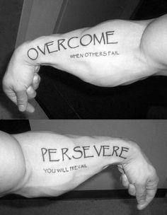 ce76ffa111a 20 Overcome Tattoo Designs For Men - Word Ink Ideas