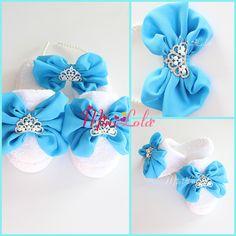 Mavi inci prenses taş fiyonklu dantelli lohusa seti