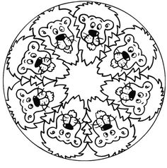 Mandalas bring relaxation and comfort to adults all over the world. Mandalas are one of our favorite things to color. We have some more simple mandalas for kids to color. Mandalas for Kids Lion Coloring Pages, Kids Printable Coloring Pages, Free Kids Coloring Pages, Dog Coloring Page, Pokemon Coloring Pages, Coloring Sheets For Kids, Mandala Coloring Pages, Mandalas Painting, Mandalas Drawing