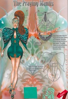 The year Style Lab™ exam challenged the students to design in one head-to-toe colour according to the theme 'Chromatic Devolution' using mostly leather. Student Portfolios, Conceptual Design, Elements Of Design, Fashion Flats, Apparel Design, Storyboard, Students, Toe, Princess Zelda