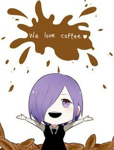 Coffee is life - Tokyo Ghoul Manga Anime, Anime Chibi, Anime Art, Kaneki, Tokyo Ghoul Manga, Dramas, Ayato Kirishima, Fanart, Joker