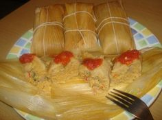 Cuban Tamales made with Fresh Corn, Tamales Cubanos de Maiz Criollo Tierno