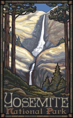Yosemite art posters