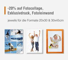 Bis 6.3.2014 => 20% auf Fotocollage, Exklusivdruck und Fotoleinwand. Jeweils gültig für die Formate 20x30 und 30x45 cm. #fotogeschenke #aktionen #fotoartikel