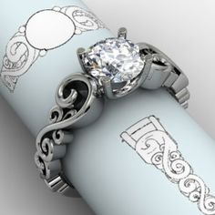 #engagement #jewelryworks This one might be the best Curvy Scrolls ring yet.