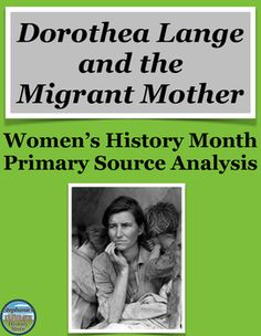 Students read about when Dorothea Lange famously photographed Migrant Mother during the Depression and answer 5 questions of varying degrees of difficulty.  An answer key is not included because each question is dependent on student opinion and interpretation.  This would be great for a sub, a Women's History Month Activity, or a unit on the Great Depression.